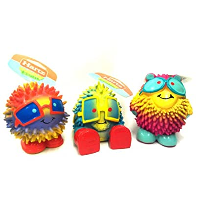 Pet Supplies Squeak Toys Hartz Frisky Frolic Latex Squeakable Dog Toy Assorted Characters Pack Of 1 Com