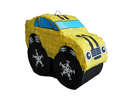 Racing Car Pinata - Yellow Muscle Car Pinata