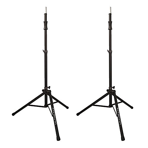 Price comparison product image Ultimate Support Air-Powered Speaker Stand (2 Pack) Aluminum Tripod Speaker Stand – Two Stands for Great Sound!