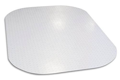 Evolve Modern Shape 45''x 60'' Clear Rectangle Office Chair Mat For Low And Medium Pile Carpet, Made in the USA By Dimex, Phthalate Free, C5E6001J by Dimex