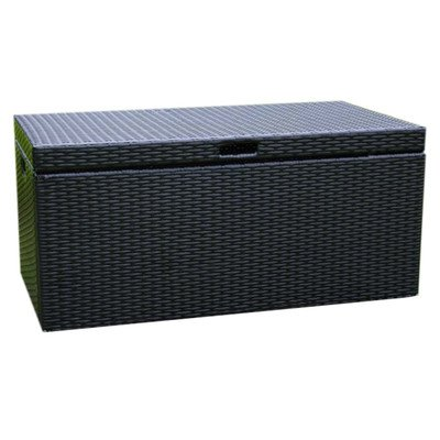 Black Deck Box (Jeco Wicker Patio Storage Deck Box in Black)