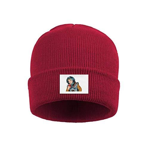 srygjukuu Men and Women Beanie Skull Hats Astronaut Beauty and Coffee Personalized Cuff Toboggan Knit Cap ()