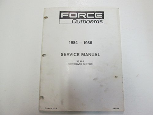 (1984 1985 1986 Force Outboards 35 HP Outboard Motors Service Manual STAIN WORN**)