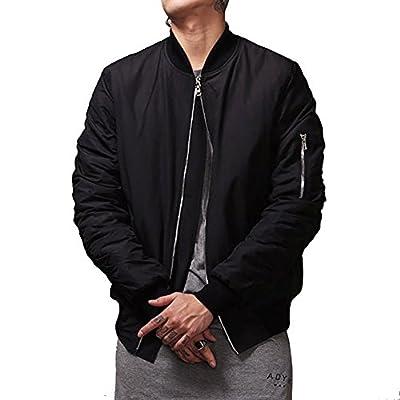 MCCKLE Men`s Zip Hip Hop Varsity Baseball Bomber jacket