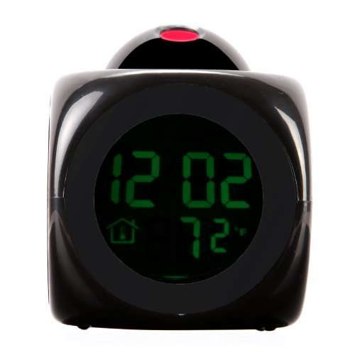 Led Projection Alarm Clock - Digital Lcd Voice Talking Led Projection Alarm Clock Temp Station - Sensor Sunlynn Thermometer Talking Projector Projectors Atomic Digital Temp -