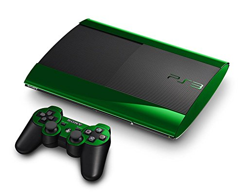 Sony PlayStation 3 Super Slim Skin (3rd Gen) - NEW - GREEN CHROME MIRROR system skins faceplate decal mod