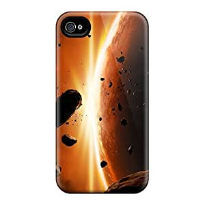 Durable Case For The Iphone 4/4s- Eco-friendly Retail Packaging(space)