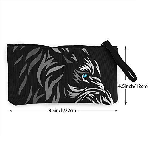 Pattern Women Fregrthtg For Canvas Print Wallets Unisex 3d Lion Men Coin Blue And Purse Eye PxqTrP60