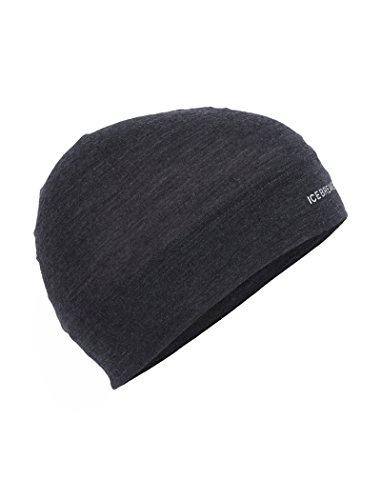 Icebreaker Merino Unisex Cool-Lite Flexi Beanie , Black Heather, One - Skull Logo Cap Wool