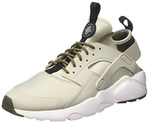 NIKE Men's Air Huarache Run Ultra Shoes (12, Khaki/Grey-M)