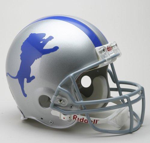 Detroit Lions Helmet Riddell Authentic Full Size VSR4 Style 1960-1969 (1966 Detroit Lions)