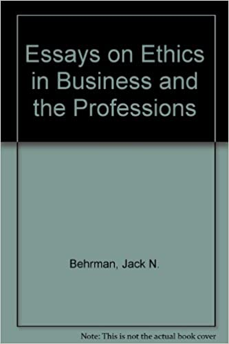 com essays on ethics in business and the professions com essays on ethics in business and the professions 9780132836234 jack n behrman books