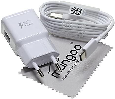 Cargador para Original Flash rápido Samsung 2A + USB Cable de tipo C Cable de carga de datos para Samsung Galaxy A5 2017 (A520F) con mungoo pantalla ...
