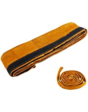"YaeTool TIG Welding Torch Cable Cover 4"" x 11.5ft Flame Resistant Leather Plasma Cable Sleeves Tig Cover"