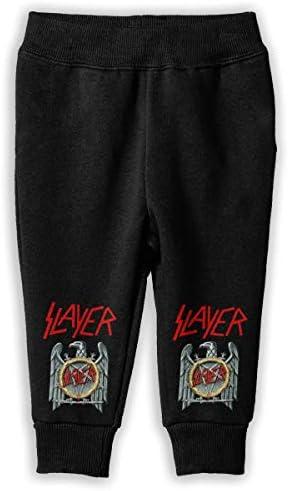 スレイヤー バンド Slayer ロングパンツ スウェットパンツ ユニセックス 子供 日常 スクール 気楽 防汗 伸縮性 通気 耐久 春秋 肌触りよく 柔らか 下着 入学式