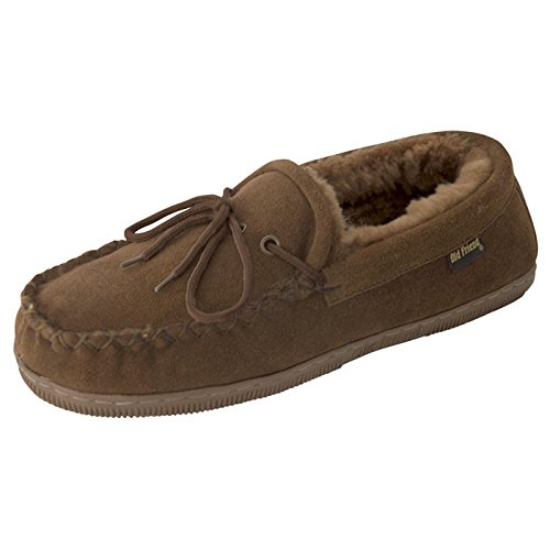 Old Friend Mens Moccasin Slipper Chocolate HvYHbwv