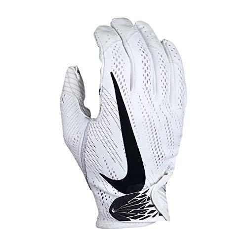 Nike Vapor Knit 2.0 Men's Football Receiver/Skill Gloves NFG01 (White/White/Black, Medium) (Nike Vapor Elite Batting Gloves)