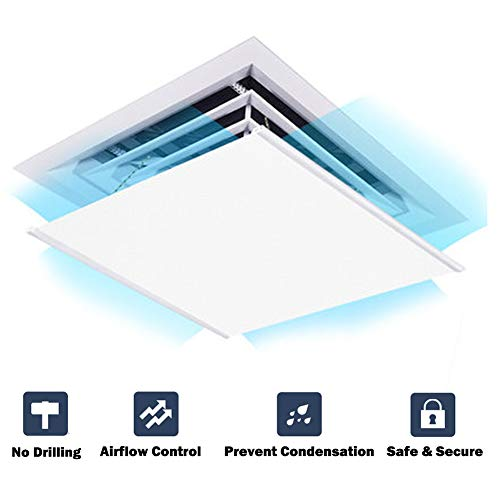 GettyGears Air Deflector Adjustable Reusable Heat and Air Deflector for Ceiling Vents RV, Home HVAC, AC and Ceiling Registers Air Conditioner Deflector White 24