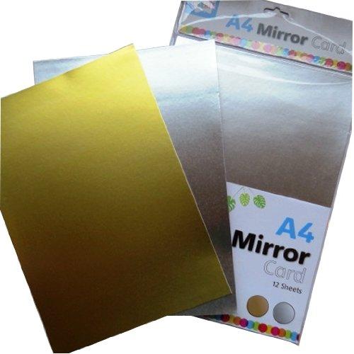 Anker Kids Create: A4 Gold & Silver Mirror - Card Mirror Gold