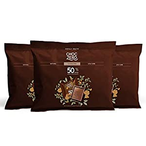 Well-Being-Matters 41Hb-zqG-RL._SS300_ ChocZero 50% Dark Chocolate, Sugar free, Low Carb. No Sugar Alcohol, No Artificial Sweetener, All Natural, Non-GMO - (3…