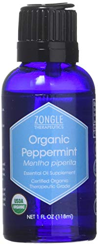- Zongle USDA Certified Organic Peppermint Oil, Safe To Ingest, Mentha Piperita, 1 Oz
