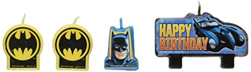 [Amscan AMI 171386 Batman Candle Set, AMI 171386 1, Multicolored] (Made Up Superhero Costumes Ideas)