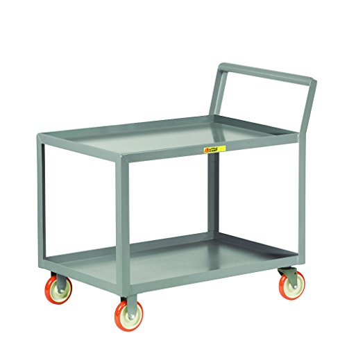 - Little Giant LGKL-2448-5PY Service Cart with Sloped Handle, Lipped Shelves, 1200 lb. Capacity, 108.5