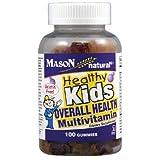 Mason Vitamins Healthy Kids Overall Health Multivitamin Kosher Gummies, 60 Count