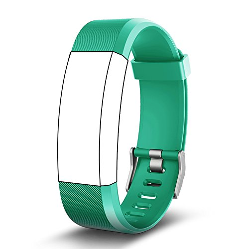 Kybeco Replacement Bands for Fitness Tracker, Elegant Waterproof Heart Rate Monitor Activity Tracker Bluetooth Wearable Wristband Wireless Step Counter Smart Bracelet Watch (Green)