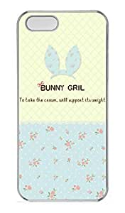 Blue Flowers Girl Hard Case Cover iPhone 5S 5 Polycarbonate Clear