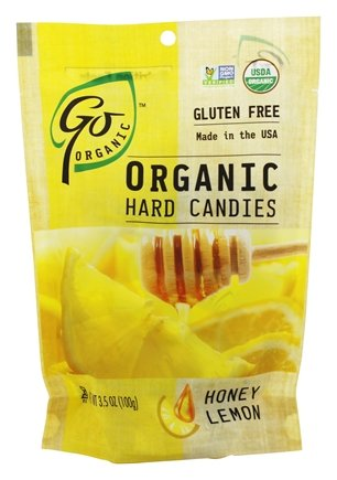 Go Naturally - Organic Hard Candies Honey Lemon - 3.5 oz (pack of 2)