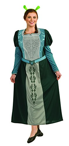 Shrek Fiona Costume, Green, Plus (Fiona Adult Costume)