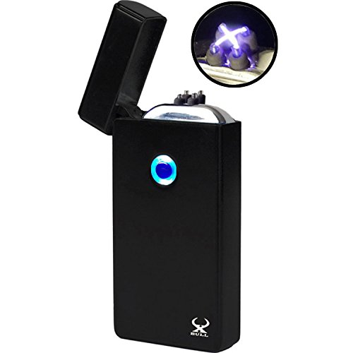 Arc Lighter XBULL Electronic Lighter NEW Technology NEW Generation - NO More Narrow Arcs - Plasma Lighter, Wider Arcs, Dual Arc Beam, USB Rechargeable lighter Windproof