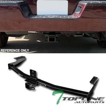 "Topline Autopart Class 3 III Black 2"" Rear Bumper Trailer Tow Hitch Towing Mount Receiver Tube For 06-14 Honda Ridgeline"