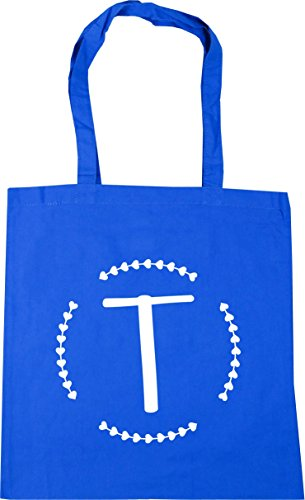 Initial Bag litres Gym Tote Blue 10 x38cm Cornflower Beach Shopping T HippoWarehouse 42cm H5TfqxYf