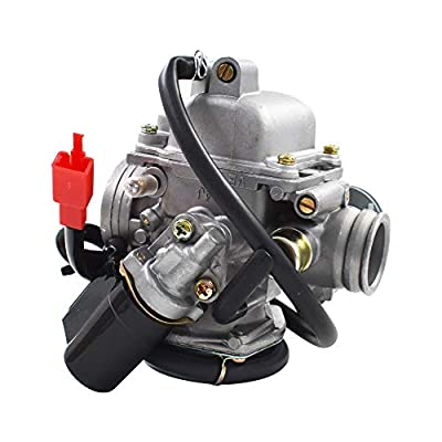 labwork 24mm Electric Carburetor Carb Fit for PD24J 4 Stroke GY6 125cc 150cc Engine Motorcycle: Automotive