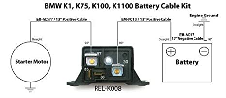 Amazon.com: Battery Cable Kit 4 Gauge compatible with BMW K ... on