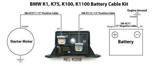amazon com battery cable kit 4 gauge bmw k series negative positive rh amazon com BMW K100 Motorcycle BMW K100 Motorcycle