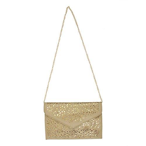 a pour couleur sac SODIAL de enveloppe R les embrayage Kaki a diagonale creuse national sac bandouliere femmes la en bleue SEEFwqp