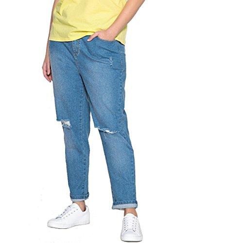 Blu Donna Castaluna Boyfit Jeans Stone tYAwAd