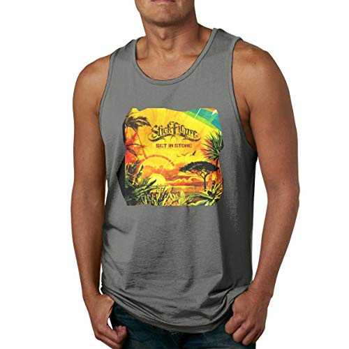 (Buganda Men Design with Stick Figure Set in Stone Gym Sleeveless Tank Top T Shirt Deep Heather)
