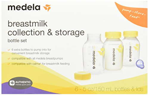 Medela Breast Milk Collection and Storage Bottles, 5 Ounce, 6 Count by Medela (Image #2)