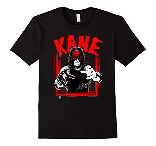Mens WWE KANE Horror Font 3XL Black