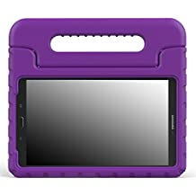 MoKo Samsung Galaxy Tab E 8.0 Case - Kids Shock Proof Convertible Handle Light Weight Super Protective Stand Cover for Samsung Galaxy Tab E 8.0 Inch SM-T377 4G LTE Tablet, PURPLE