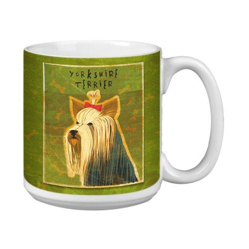 (Tree-Free Greetings XM27993 John W. Golden Artful Jumbo Mug, 20-Ounce, Yorkshire Terrier)