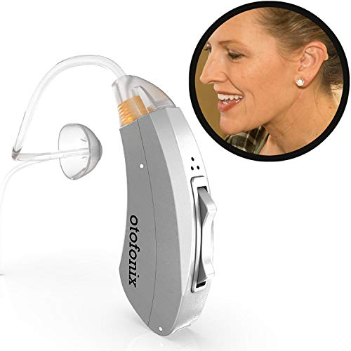 - Otofonix Encore Hearing Aid Amplifier to Assist Hearing for Adults and Seniors (Left Ear, Gray)