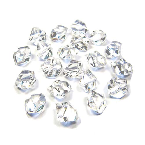 Acrylic Stone Bead - Bogo Arty Acrylic Crystals Ice Rocks Clear Gem Stones for Vase Fillers, Table Scatter, Party Favor, Wedding Decoration, Arts Crafts (Approx 1000 Pieces, 2/4 inch)