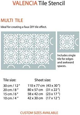 """8 X 8/"""" 6 X 6/"""" 12 X 12/"""" Cuatro flores calidad 190 micras Mylar Stencil"""