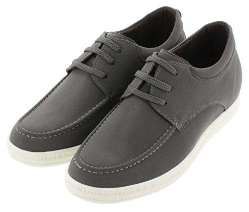 calto–g65161–6,6cm Grande Taille–Hauteur Augmenter Chaussures ascenseur–Léger Gris anthracite