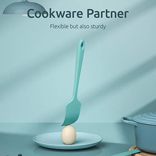 U-Taste Silicone Spatula Set with 600 Degrees Fahrenheit Heat Resistant (Teal/Aqua Sky)